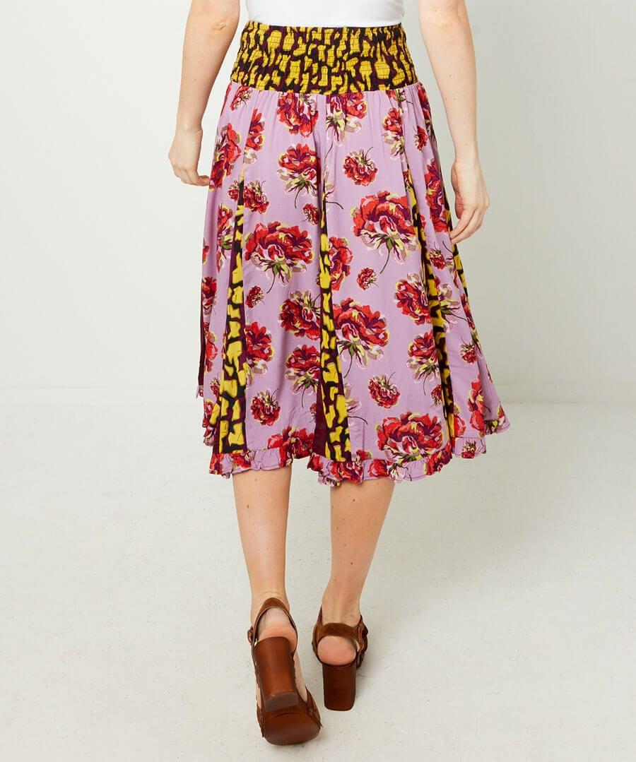 Glamorous Godet Skirt Model Back
