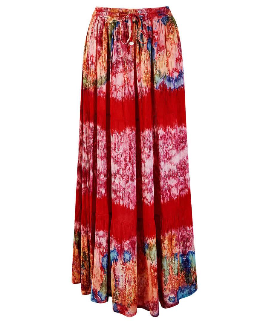 Tie-Dye Skirt Model Front