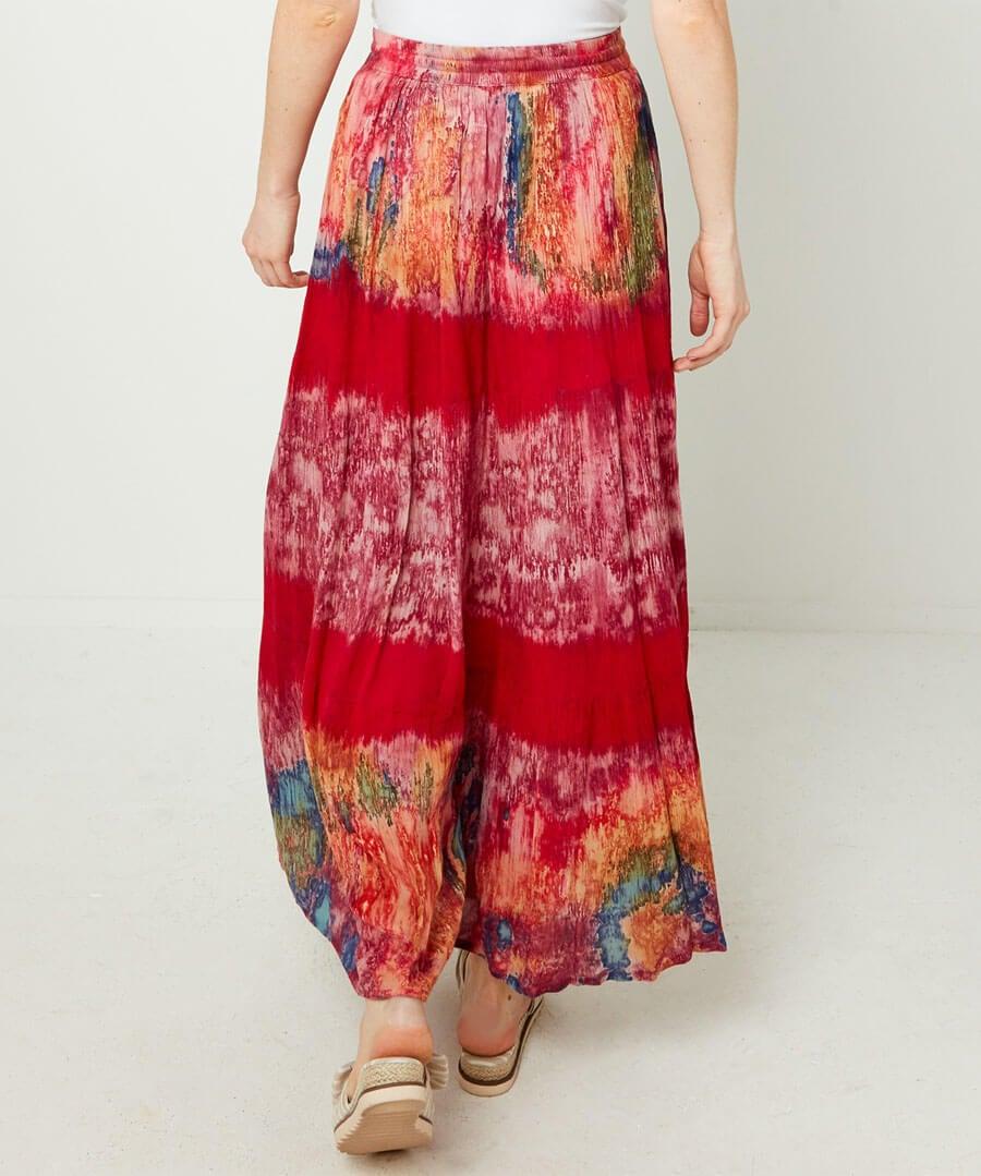 Tie-Dye Skirt Model Back