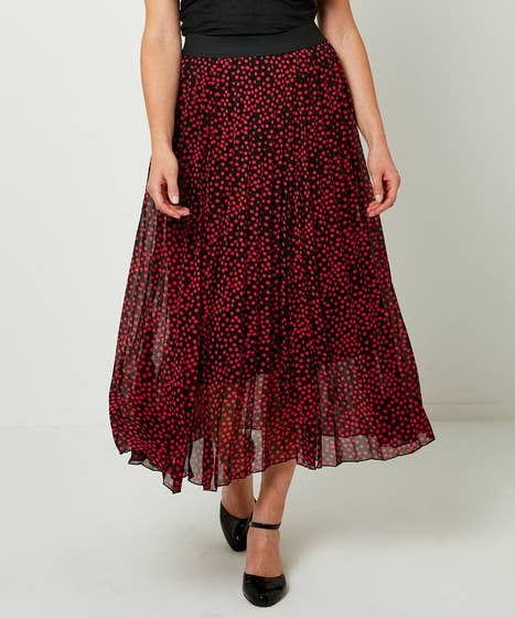 Dotty Pleated Skirt