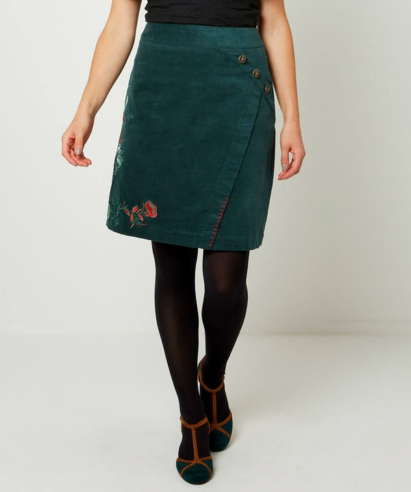 Embroidered Cord Skirt