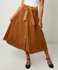 Belted Cord Skirt