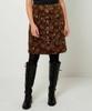 Printed Moleskin Skirt