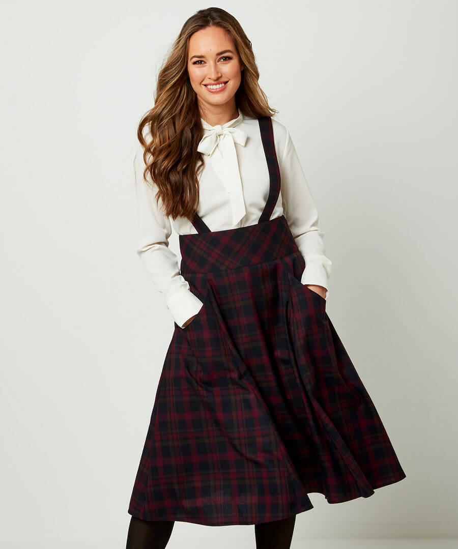 1950s Style Clothing & Fashion Pinafore Skirt $50.00 AT vintagedancer.com