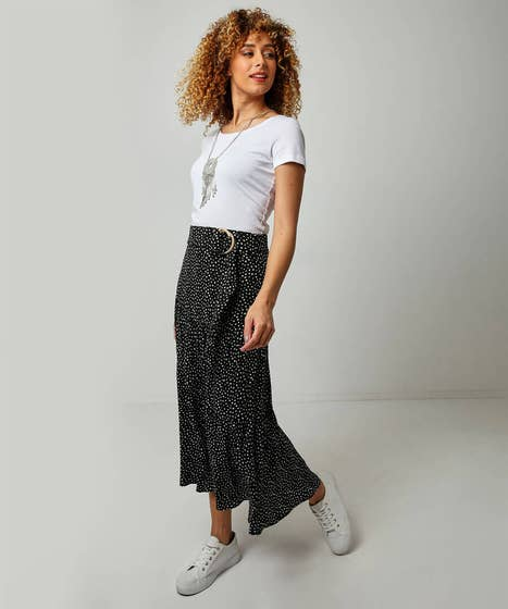 Dotty Tiered Skirt