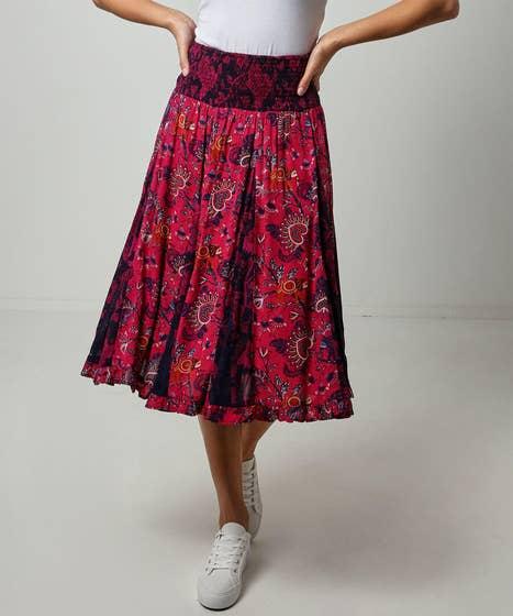 Elegant Godet Skirt