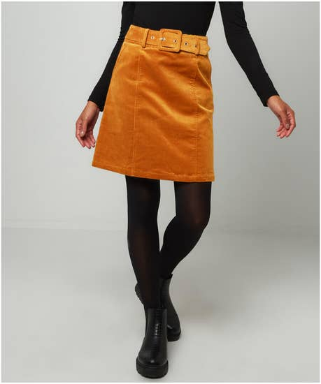 Ultimate Belted Cord Skirt
