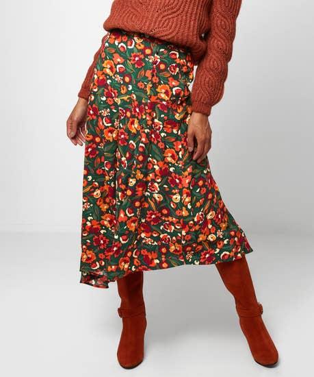 Autumnal Floral Skirt