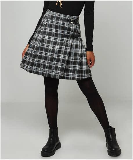 Funky Check Skirt