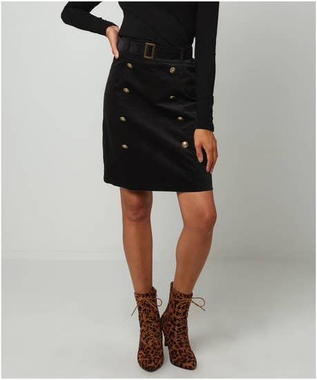 Military Style Moleskin Skirt