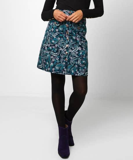 Remarkable Printed Moleskin Skirt