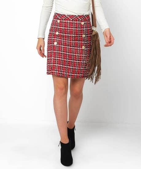 Chic Check Skirt