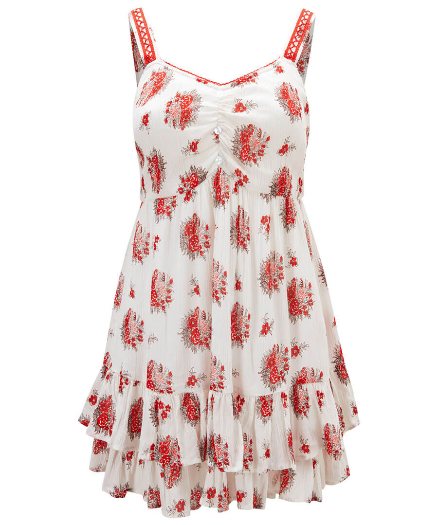 Free Flowing Floral Top Model Front