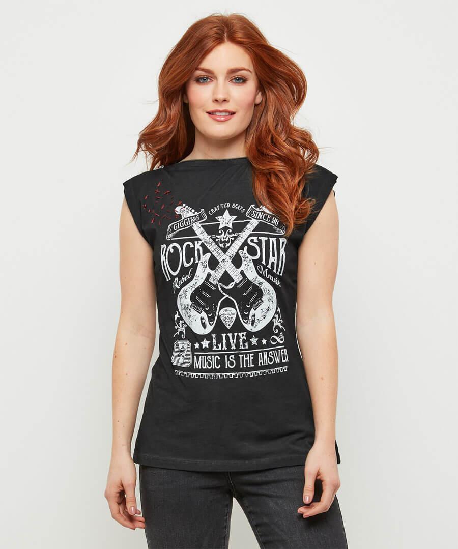 Rocking Rebel T-Shirt Model Front
