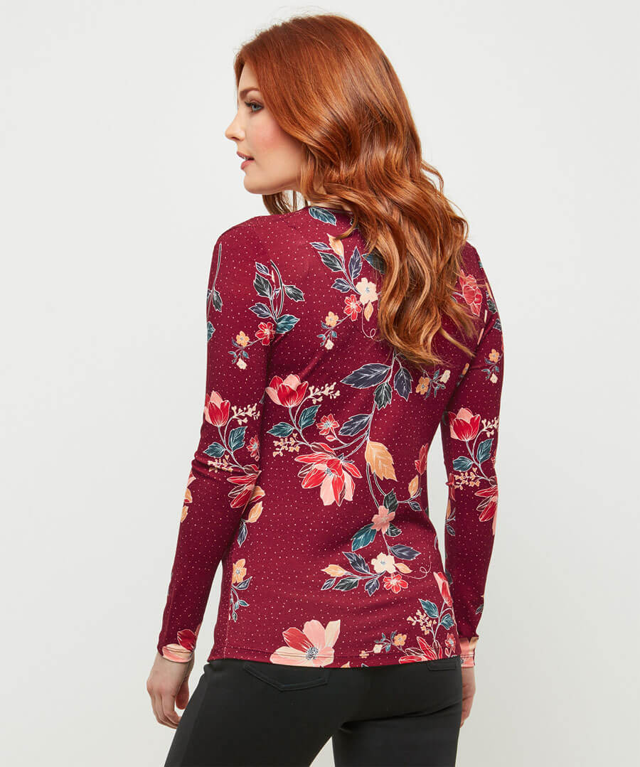 Purely Pretty Wrap Top Model Back