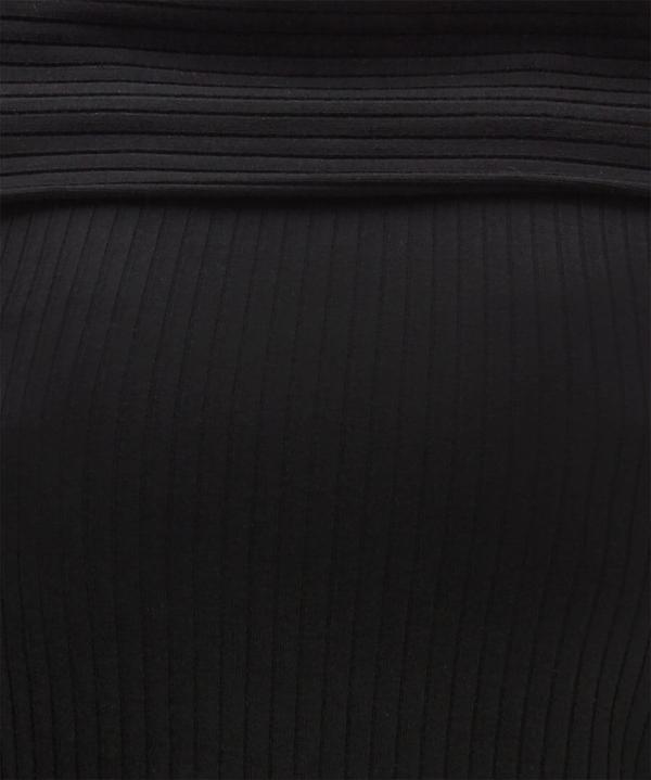 Rolled Shoulder Ribbed Top