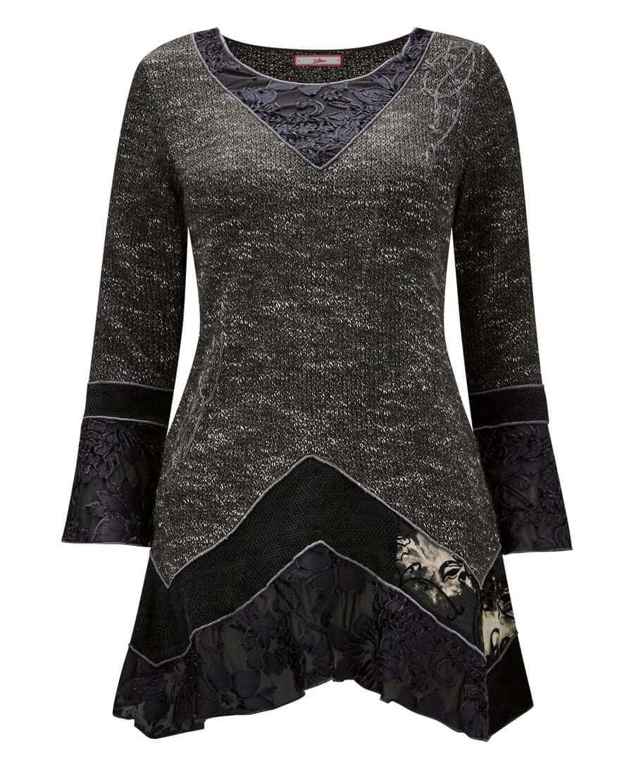 Black Widow Knitted Top
