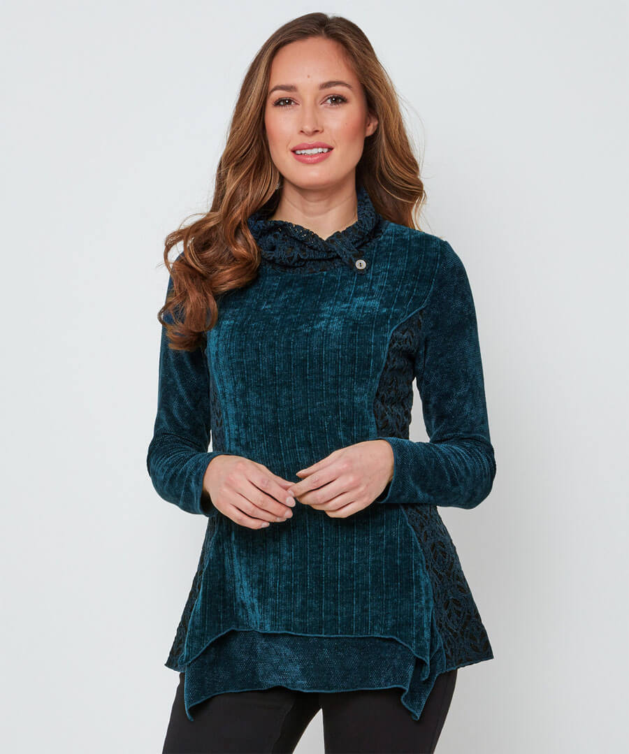 Chenille Top Model Front