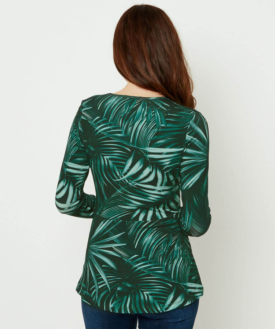 Jungle Palm Top Model Back
