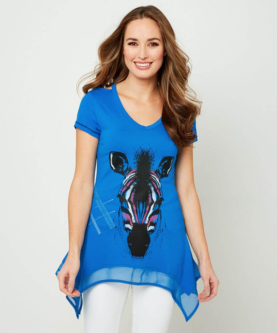 Perfect Zebra T-Shirt Model Front