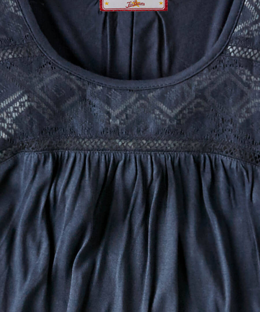 Lace Panel Top Back