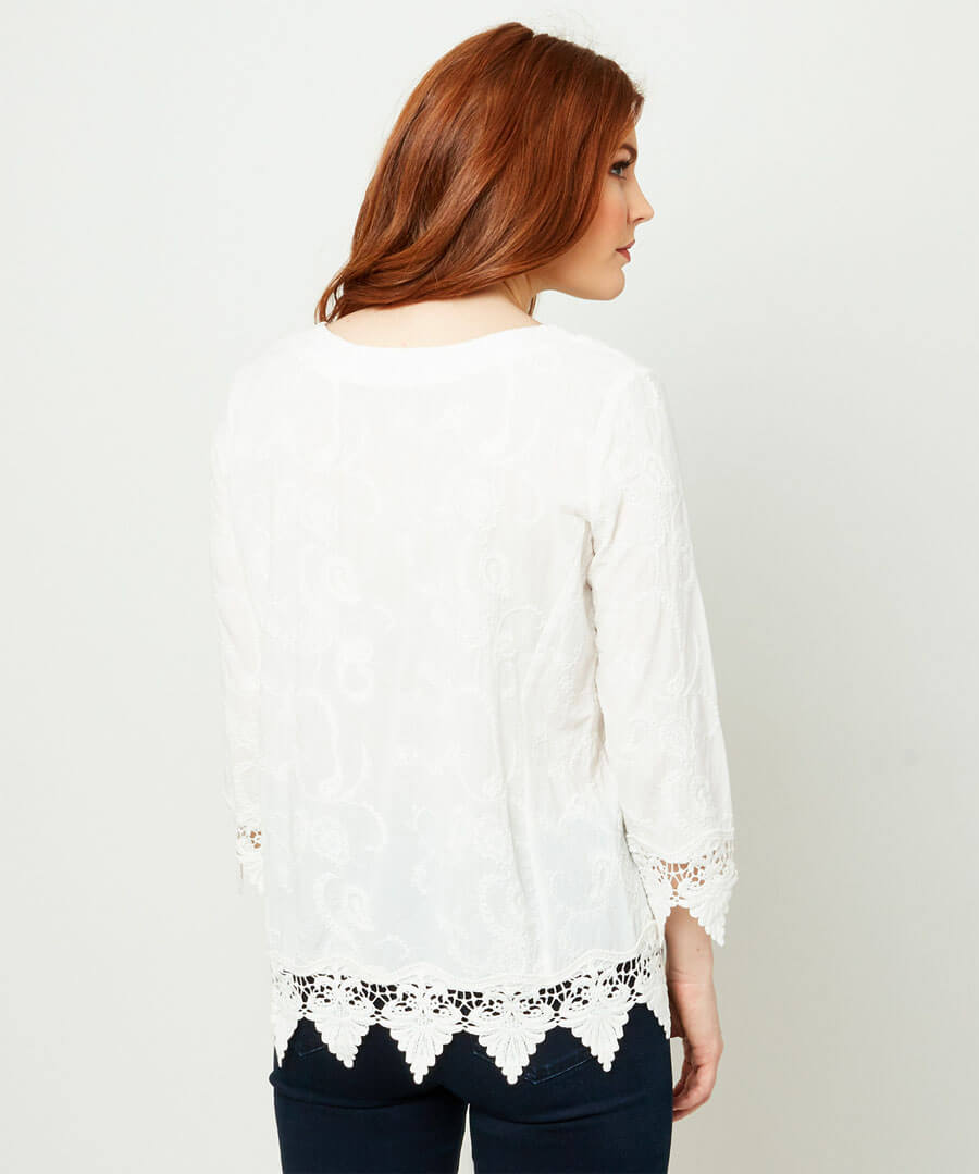 Lovers Lace Top Model Back