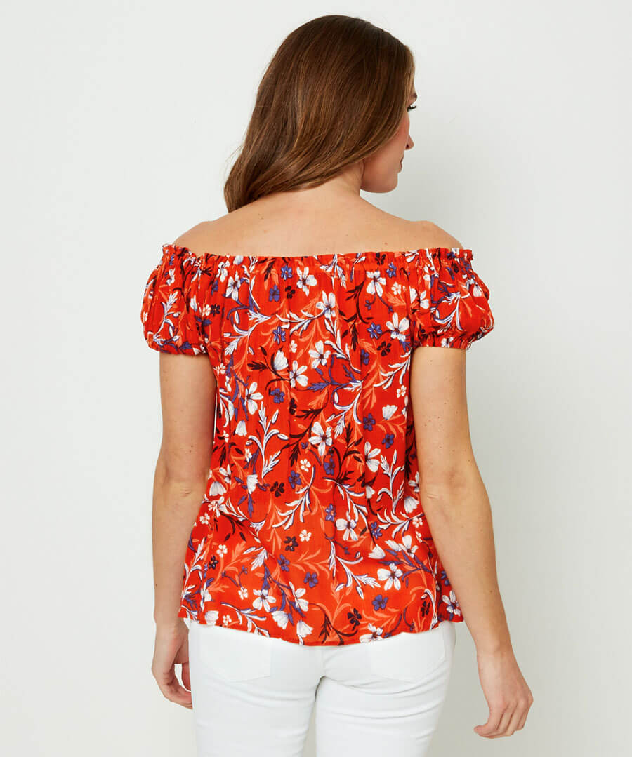 Floral Gypsy Top Model Back