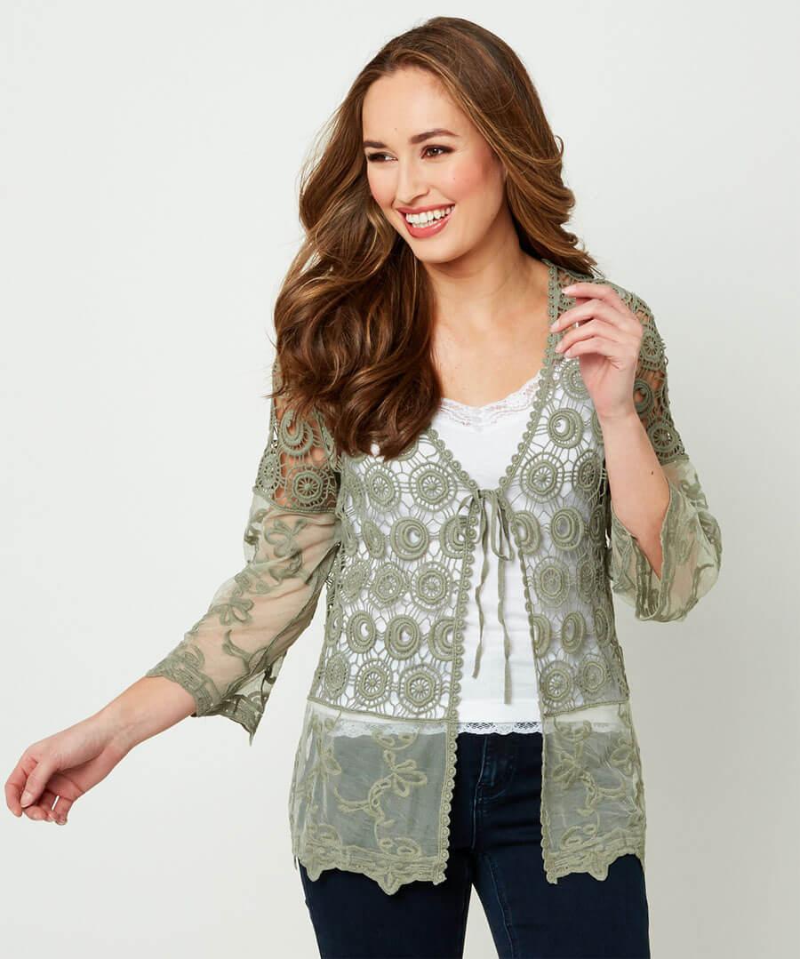 Crochet Top Model Front