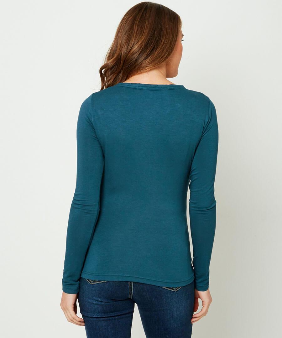 Unique Basic Long Sleeve Top Model Back