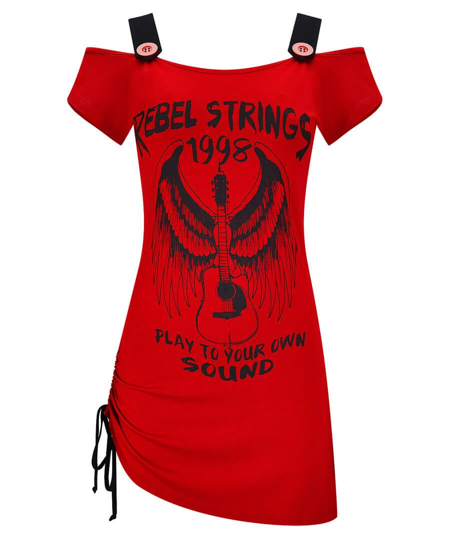 Rebel Strings T-Shirt Model Front