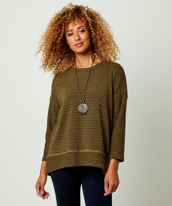 Knit And Necklace Top