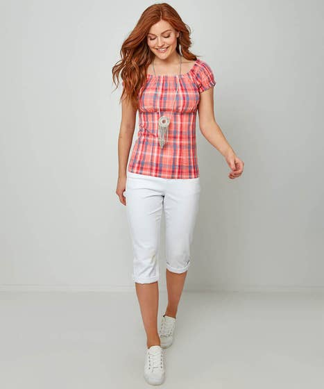 Cheerful Check Top