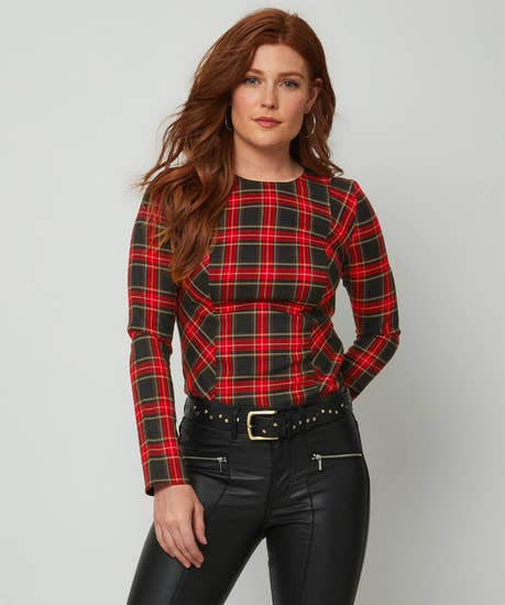 Rock Chick Check Top