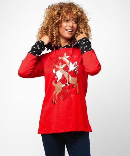 Cosy Reindeer Hoody