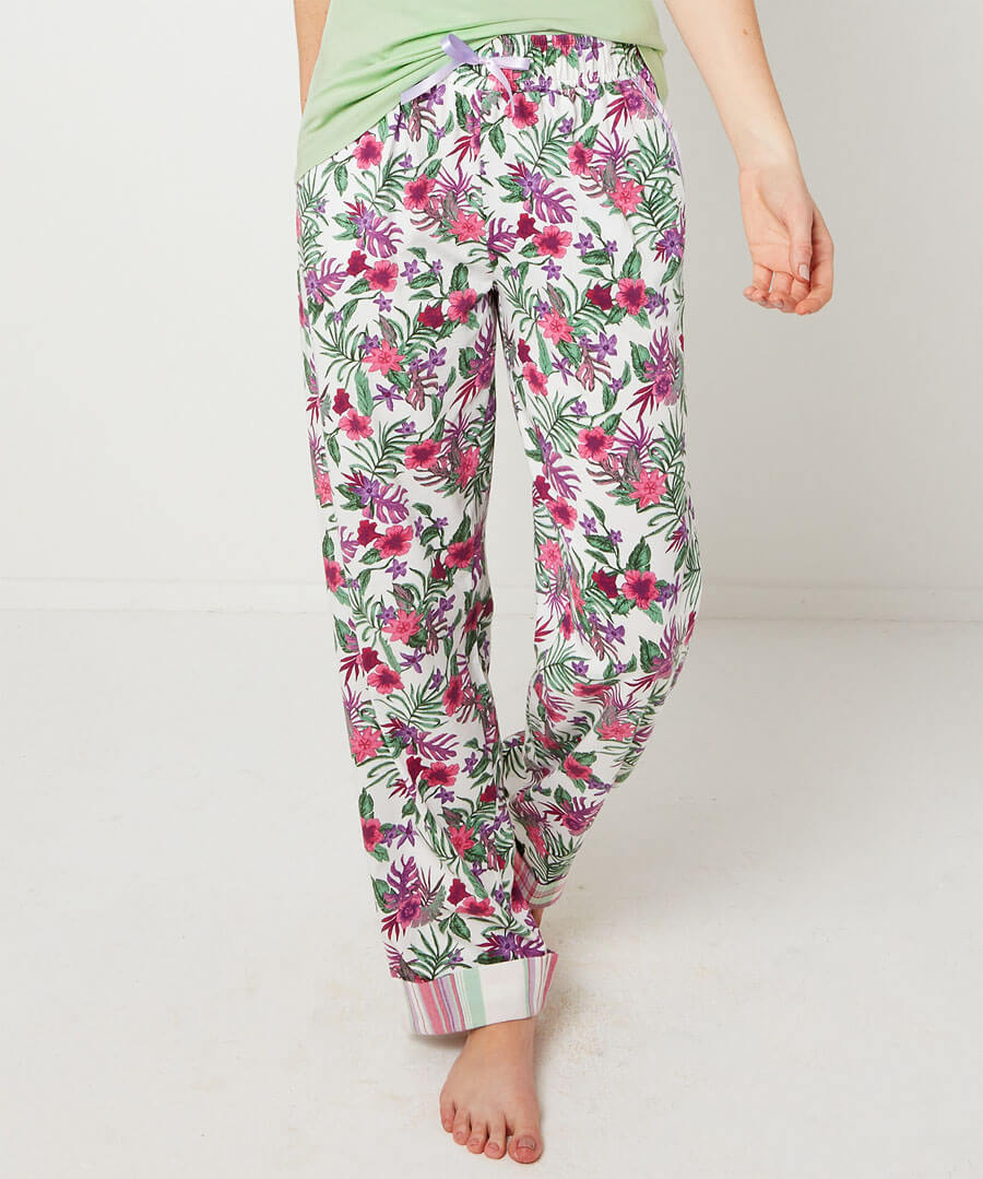Mix and Match Floral Pyjama Bottoms Model Front