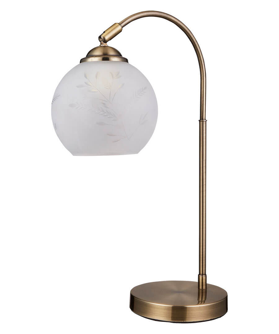 Unique Glass Table Lamp Model Front