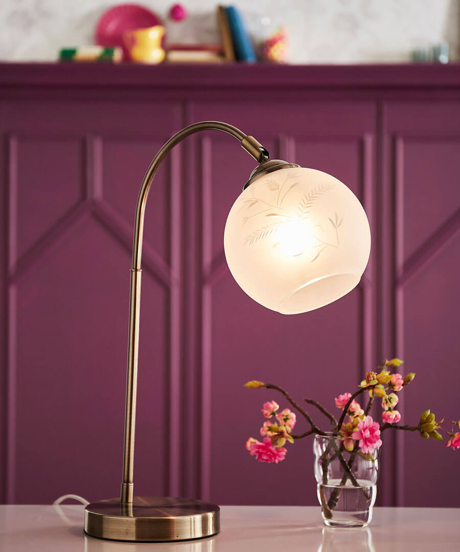 Unique Glass Table Lamp
