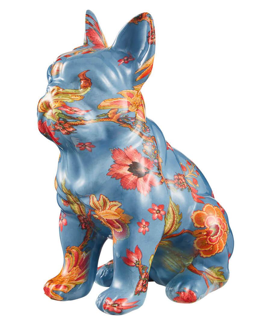 Eccentric Floral Bulldog Model Front