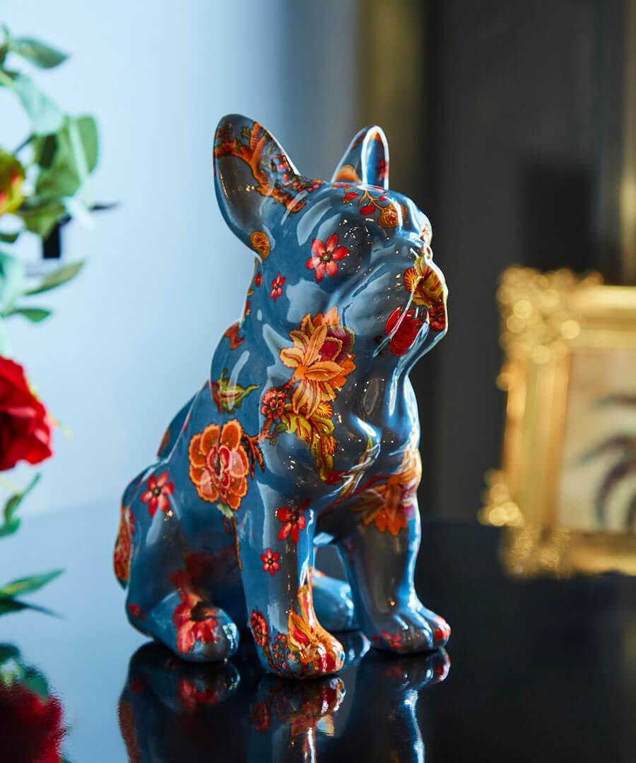 Eccentric Floral Bulldog