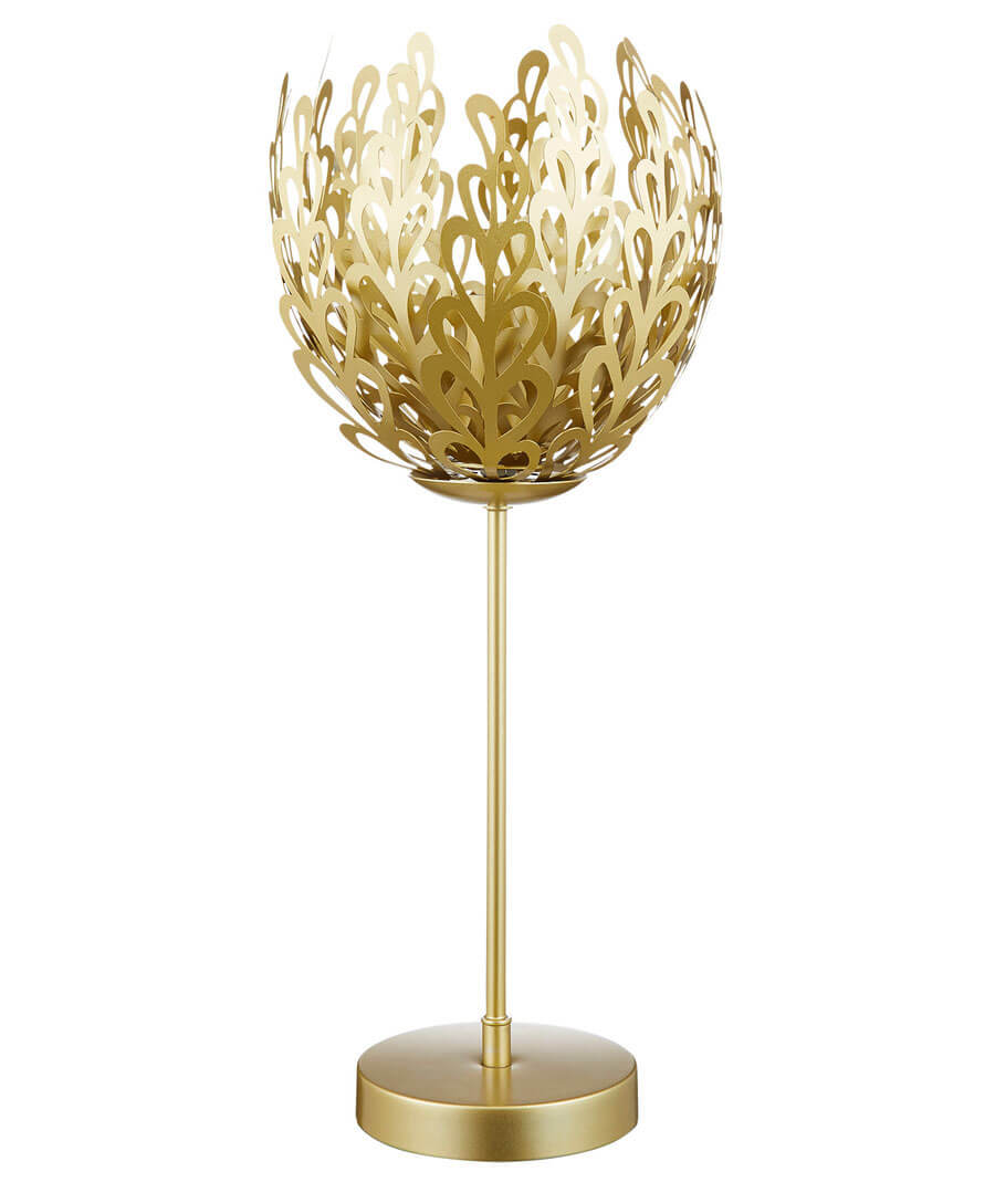 Exotic Leaf Shaped Table Lamp Model Front