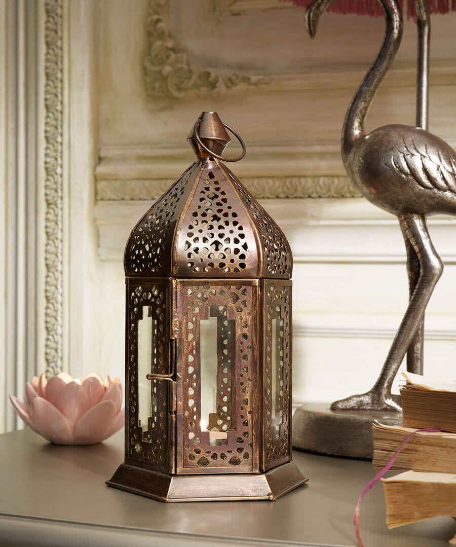 French Blossom Ornate Lantern Model Back
