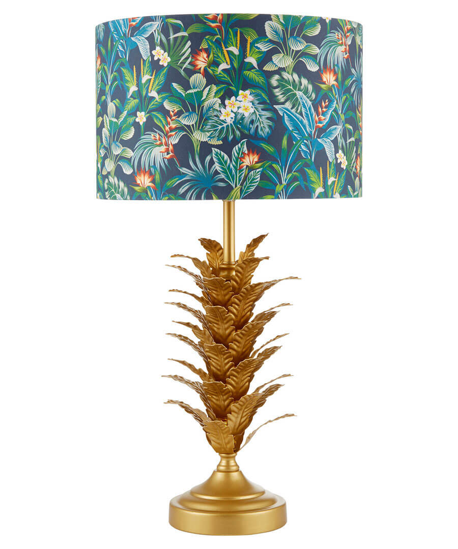 Exotic Leaf Table Lamp Model Front
