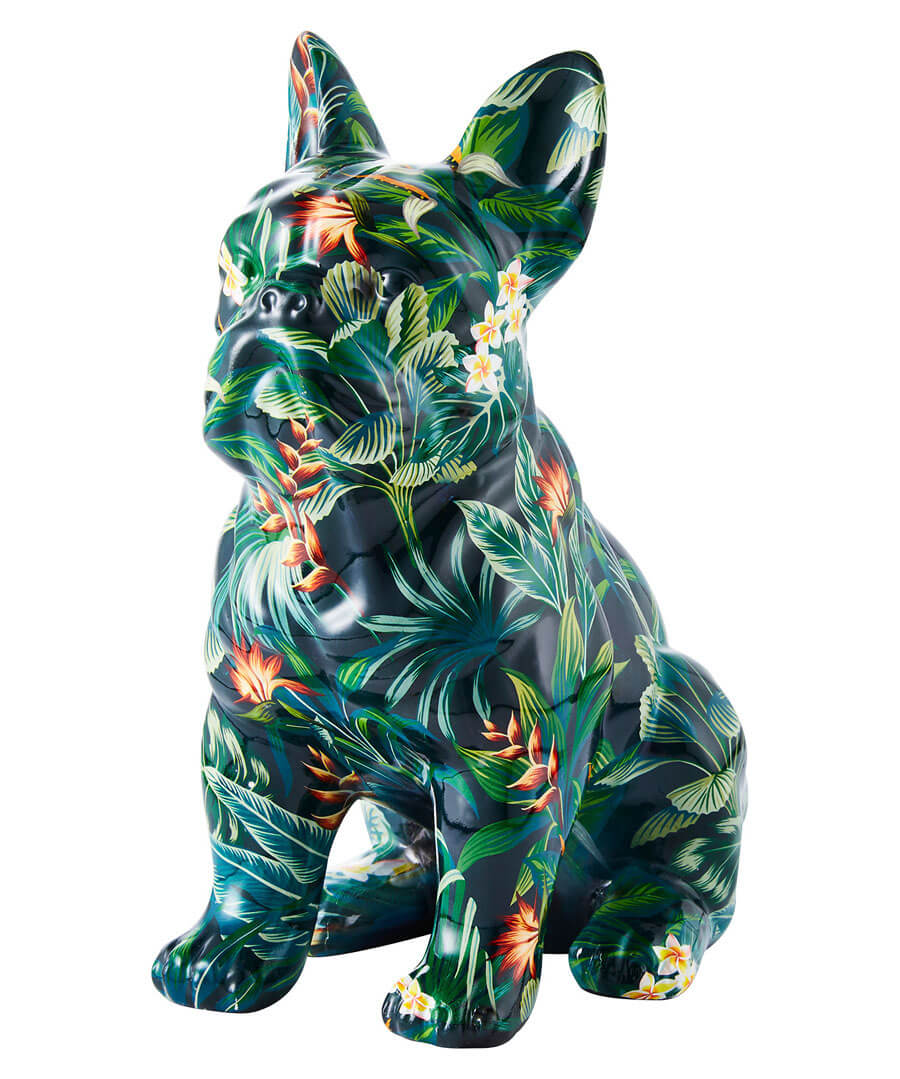 Floral French Bulldog Model Front