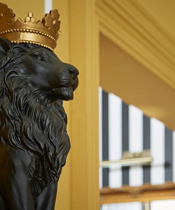 Majestic Black Lion