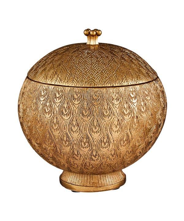 Glorious Gold Storage Pot