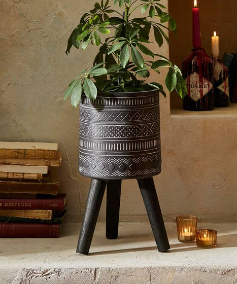 Planter With Wooden Legs