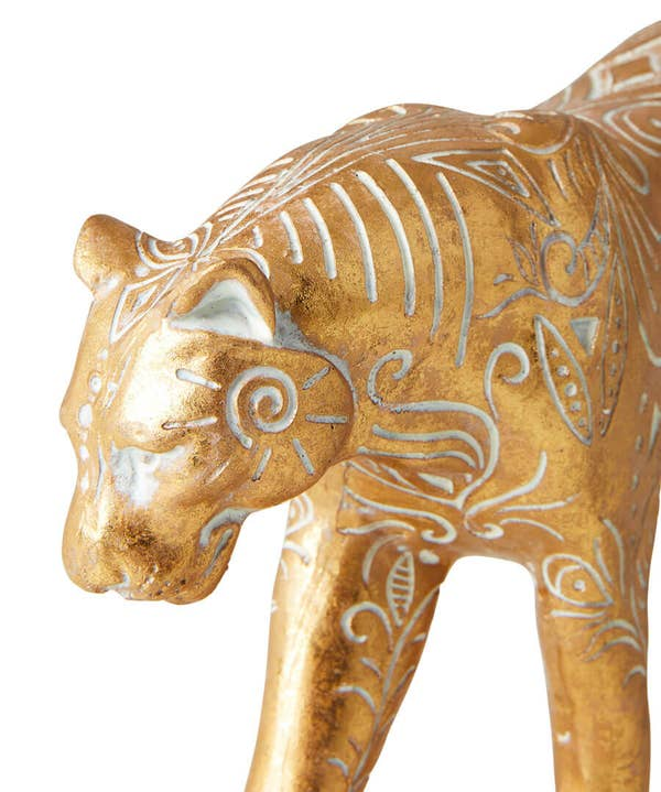 Gold Cheetah Ornament
