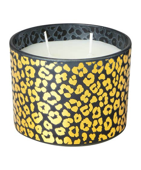 Leopard Wax Filled Candle Pot