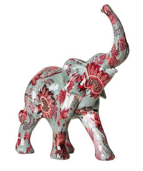 Floral Print Elephant