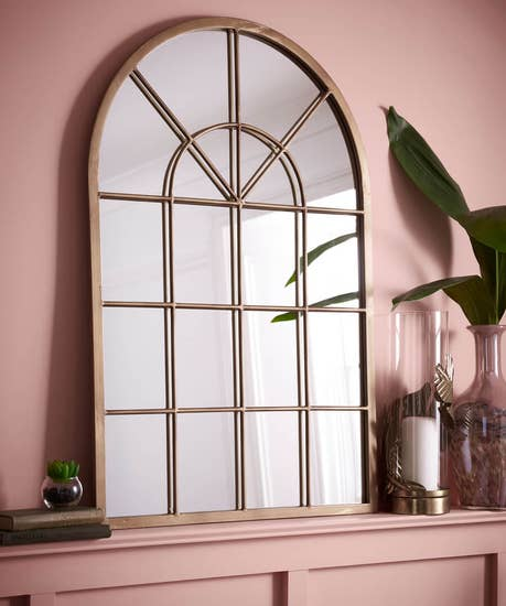 Brilliant Bronze Arch Mirror